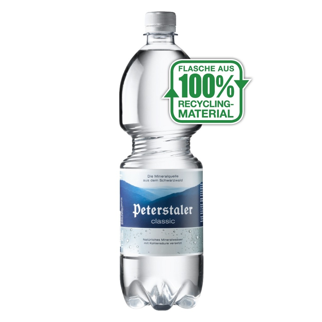 Peterstaler classic 1,0L PET, 24 Flaschen